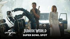 Jurassic World - Official Super Bowl Spot! - Jurassic World - Official Super Bowl Spot!Steven Spielberg returns to executive produce the long-awaited next installment of his groundbreaking Jurassic Park series, Jurassic World. Jurassic World Trailer, Jurassic World 2015, Super Bowl, New Trailers, Movie Trailers, Trailer 2015, World Tv, Fantasy Movies, Universal Pictures
