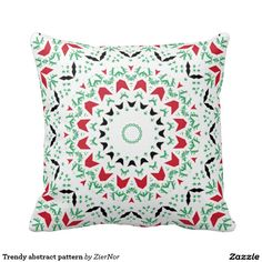 Trendy abstract pattern pillows