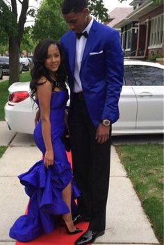 Royal blue and black prom prom prom dresses, prom outfits, royal. Outfits Fiesta, Prom Outfits, Prom Dresses 2015, Couple Outfits, Couple Costumes, Prom Photos, Prom Pictures, Couple Pictures, Prom Goals