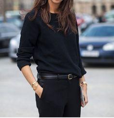 Emanuelle Alt French in all black