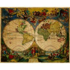 World Map, 1683