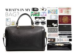 """What's in my bag?"" by amy-gray0 ❤ liked on Polyvore featuring MANGO, The Body Shop, Bobbi Brown Cosmetics, Giorgio Armani, Ted Baker, INDIE HAIR, Kate Spade, Harrods, bkr and Ray-Ban"