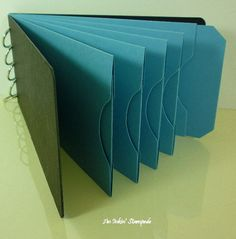 Chipboard AlbumBlack and Blue Pocket Tag by aninkinstampede, $5.00