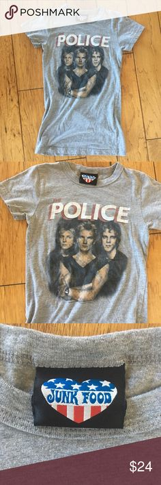 Junk food the Police 1983 band  t Shirt size XS Junk food the Police 1983 band  t Shirt size XS Junk Food Clothing Tops Tees - Short Sleeve