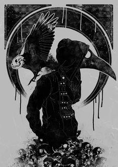 Corvoite, o humano com cabeça de corvo