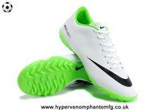 cheap for discount 41b51 b3e96 IX TF Reflective Nike Mercurial Vapor (White Black) Botas De Fútbol, Botas  De