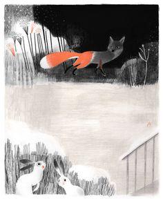 """The Fox & Rabbit Print""--isabelle arsenault fox_print.jpg"