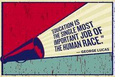 George Lucas Education quote via www.Edutopia.org