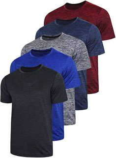 5 PACK MEN'S ACTIVE QUICK DRY CREW NECK T SHIRTS | ATHLETIC RUNNING GYM WORKOUT SHORT SLEEVE TEE TOPS BULK..88% polyester / 12% spandex fabric provides optimal upper body comfort and minimal skin irritation. Cool Fabric, Workout Shirts, Running Shirts, Running Clothing, Spandex Fabric, Short Sleeve Tee, Short Sleeves, Neck T Shirt, Gym Workouts