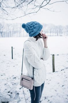Polienne | ZARA white knit ∙ VERO MODA grey denim ∙ LN BEANIES ∙ REBECCA MINKOFF bag