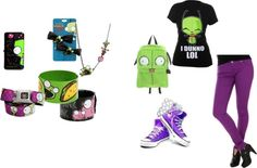 """""""courtney invders zim outfit yayy"""" by midnigthprincess on Polyvore"""
