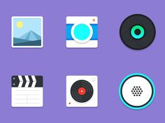 Material multimedia icons by Stafie Anatolie