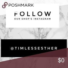 Follow for a discount on both shops ! If you follow this insta account and follow @timelesslook in posh we will give you 10% off any purchase in either account !! Just let us know ;) Timeless Look Swim Bikinis