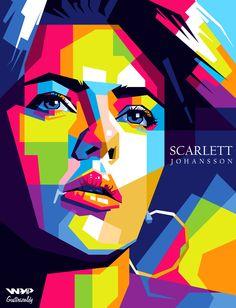 Scarlett Johansson in Wedha's Pop Art Potrait  For order : zaldirizaldi@yahoo.com