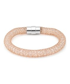 Rose Gold Textured Mesh Bracelet