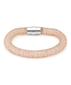 Rose Gold Textured Mesh Bracelet