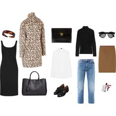 Carolyn Bessette Kennedy Style Essentials by jnsq on Polyvore featuring Miu Miu, Joseph, T By Alexander Wang, By Malene Birger, Acne Studios, The Row, Topshop, Prada, Hermès and Illesteva