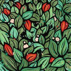 Arte em formato de gravuras coloridas da série Xirê dos Orixás - Gravura do orixá Ossãe (ossae-art)
