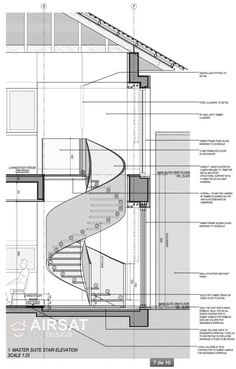 Stair Section Detail Stairs Architecture Staircase Design Spiral Staircase Plan, Stair Plan, Staircase Design, Narrow Staircase, Spiral Staircase Dimensions, Stair Design, Spiral Staircases, Stairs Architecture, Interior Architecture