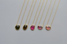 Single Rosecut Tourmaline Necklace LARGE - SOURCE objects High Jewelry, Jewelry Necklaces, Fashion Accessories, Fashion Jewelry, Tourmaline Necklace, Pomellato, Sparkles, Jewerly, Beading