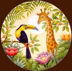 салфетка Cut Animals, Safari Animals, Ceramic Painting, Fabric Painting, China Painting, Cartoon Drawings, Art Drawings, Wildlife Art, Bird Art