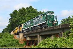 RailPictures.Net Photo: GRLW 3752 Greenville & Western EMD GP9 at Williamston, South Carolina by Reginald T. McDowell