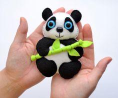 Felt magnet PANDA  fridge magnet by LadybugOnChamomile on Etsy, $14.99