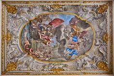 """Affresco raffigurante """"Lo sbarco di Colombo nel nuovo mondo""""  di Domenico Parodi"""