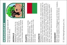 MakingFriends Facts about Madagascar Printable Thinking Day fact card for our passports. Perfect if you chose Madagascar for your Girl Scout Thinking Day or International Night celebration. Girl Scout Swap, Girl Scout Troop, Boy Scouts, Teaching Geography, World Geography, Human Geography, Girl Scout Levels, Girl Scout Activities, Scouts Of America