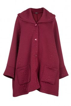 Shop AKH Raspberry Waffle Texture Oversize Jacket from idaretobe UK online stockist. Fall Winter, Autumn, Oversized Jacket, Waffles, Raspberry, Plus Size, Inspirational, Texture, Cool Stuff