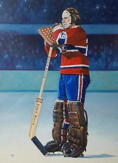 Ken Dryden. Hockey Goalie, Hockey Teams, Ice Hockey, Montreal Canadiens, Ken Dryden, Goalie Mask, Vancouver Canucks, Home Team, Sports Art