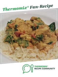 Recipe Chicken Saagwaal by Thermofeast, learn to make this recipe easily in your kitchen machine and discover other Thermomix recipes in Main dishes - meat. Recipes Dinner, Meat Recipes, Chicken Recipes, Yummy Recipes, Thermomix Recipes Healthy, Thermomix Desserts, Food N, Main Meals, Main Dishes