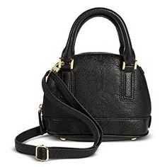 Women's Mini Dome Satchel Handbag - Merona™ - Black