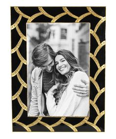 Black & Gold Vine Frame | Showcase special moments in the elegant splendor of this metallic frame that's a striking décor accent and a worthy display spot for family photos.