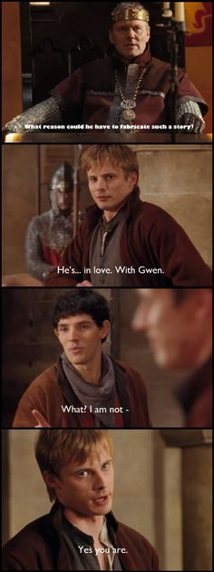 Hahaha, laughed so hard at this part. I was totally convinced Merlin had a crush on Gwen,