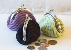 """Crochet Coin Purse Tutorial   This crochet coin pouch reminds me of my first """"Purse"""" when I was four ..."""