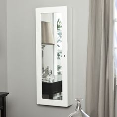Mirrotek Over The Door Jewelry Armoire Mirror In Cherry   Wayfair.com | DIY  IDEAS | Pinterest | Armoires, Travel Jewelry And Project Ideas