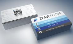 Dartech Serwis Business Cards back with QR code