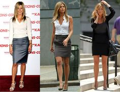 Jennifer Aniston is basically the model of pencil skirt-wearing perfection. Dressing like a boss