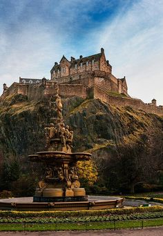looks like Edinburgh castle...can't say for sure.