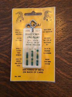 Jai Alai Shake 'N Bet Horse Racing Racetrack Helper Keychain Betting System | eBay