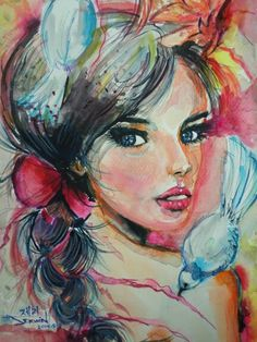 My Version Of Joanne Young Watercolor