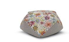 Pouf realizzato con un patch di tessuti e fantasie by Missoni Home #mdw #salonedelmobile #madeinitaly