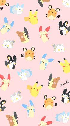 Iphone Wallpaper Pokemon, Pokemon Backgrounds, Pokemon Names, All Pokemon, Cute Cat Wallpaper, Kawaii Wallpaper, Cute Pokemon Pictures, Kawaii Illustration, Marvel Wallpaper