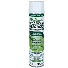 Essentria Bed Bug Broadcast Insecticide 17 oz. (2 Cans) by Essentria. $29.00. Few insects cause as much fear among consumers as bed bugs. And with good reason - they're tough to control, often resistant to synthetic insecticides and spreading rapidly across many parts of the country.  Now there's a convenient, effective and natural solution to bed bug worries: EssentriaTM Broadcast Insecticide for Mattresses, Carpet and Furniture.  Essentria bed bug killer products cont...