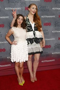 """Game Of Thrones"" Stars Sophie Turner And Maisie Williams Prove Just How Well They Know Each Other."
