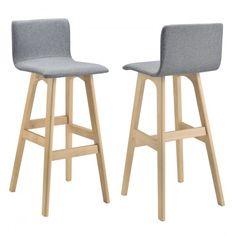 Moderná a pohodlná barová stolička bola inšpirovaná najnovšími dizajnovými trendmi a je ideálnou voľbou pre vašu kuchyňu. Materiál - nohy: bukové drevo, - poťah: 100% polyester. Rozmery - celkové (V x Š x H): 98 x 48 x 49 cm, výška sedadla: 75 cm, farba: sivá, produkt značky [en.casa]®