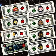 Paper Printable Play Money Angry Birds Star Wars Fan Art Novelty Vintage U.S. Currency Party Favor Gift. $10.00, via Etsy.