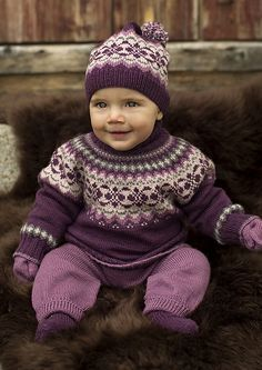 Ravelry: 27011 Dale Garn Baby Sweater pattern by Olaug Kleppe Baby Sweater Patterns, Baby Sweater Knitting Pattern, Fair Isle Knitting Patterns, Knit Baby Sweaters, Knitted Baby Clothes, Baby Patterns, Knit Patterns, Knitted Bags, Crochet Baby Booties
