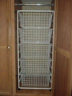 RV Closet Shelves and Wire Baskets | ModMyRV
